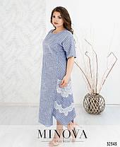 Платье льняное длинное летнее размер 54,56,58,60,62,64, фото 3