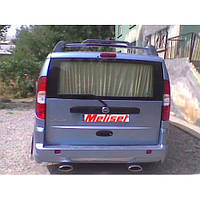 Накладка на задний бампер (под покраску) Fiat Doblo I (2001-2005)