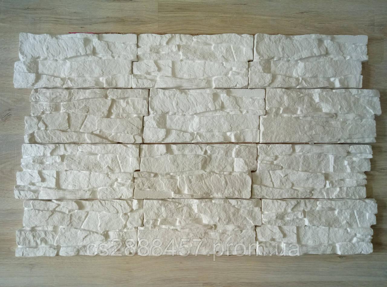 """Декоративный камень """"Скала"""" гипсовый, угловой/рядовой, 0,5 кв.м/уп."""