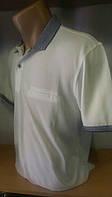 Стильная Мужская футболка-поло Blessed новинка этого сезона  белая с серым воротником и карманом на груди