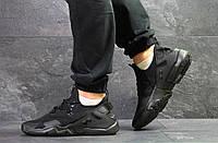 Мужские кроссовки в стиле Nike Air Huarache, черные 45 (28,5 см)