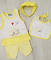 Детский летний костюм для  девочки майка и шорты  размер 62  (на 3 месяца) Турция