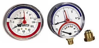 Термоманометр F+R818, F+R828 Watts