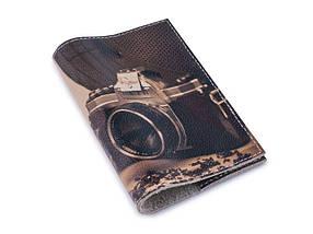 Кожаная обложка для паспорта -Будни фотографа- Натуральная кожа (Шкіряна обкладинка для паспор