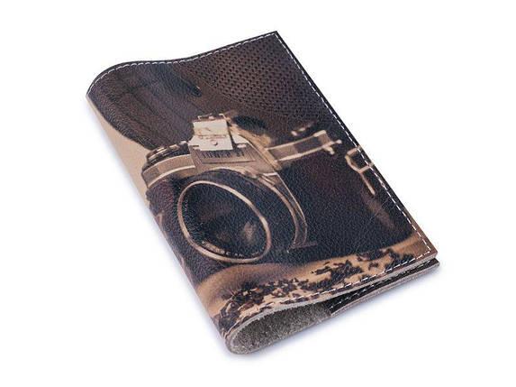 Шкіряна обкладинка для паспорта -Будні фотографа - Натуральна шкіра (Шкіряна обкладинка для паспор, фото 2