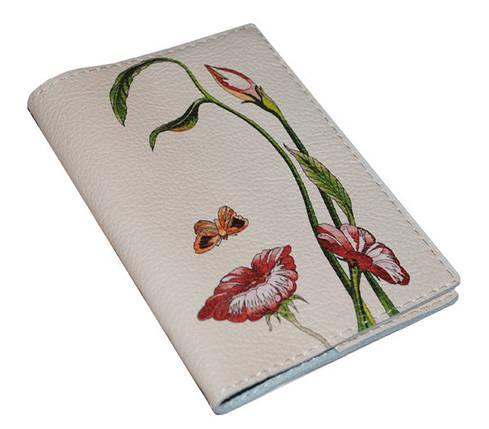 Кожаная женская обложка для паспорта -Октавио Окампо Иллюзии-, фото 2
