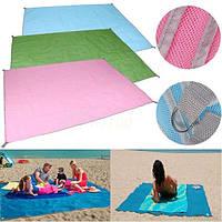 """Пляжный коврик """"Анти Песок"""" 150 см./200 см. в розовом, голубом, зелёном цветах, покрывало пляжное, подстилка"""