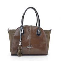 Женская сумка Velina Fabbiano 56412 khaki (хаки)