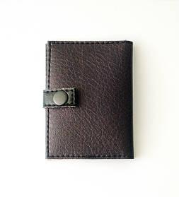 """Обложка для id-карты, id-паспорта, нового паспорта, биометрического, пластикового паспорта  с 3 отделами """"Black"""""""