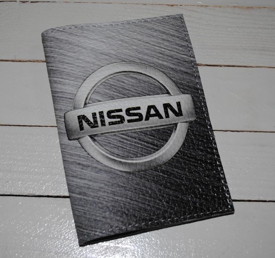 Обложка для водительских прав, Документов, Автодокументов, с принтом -Nissan- кожа/ Обкладинка для Автоправ