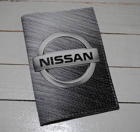 Обложка для водительских прав, Документов, Автодокументов, с принтом -Nissan- кожа/ Обкладинка для Автоправ, фото 2