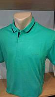 Стильная Мужская футболка-поло с вышивкой Blessed на груди новинка этого сезона  зеленая