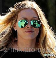 Солнцезащитные очки  Aviator 3025 зеленые