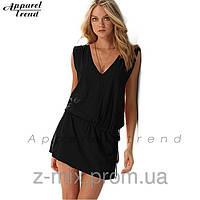 Сексуальное пляжное платье цвет черный