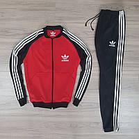 Спортивный костюм Adidas (Premium-luxe) красный с черным