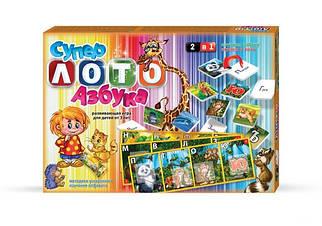 Игра настольная Danko Toys Супер лото азбука (Рус) (ЛА 2)