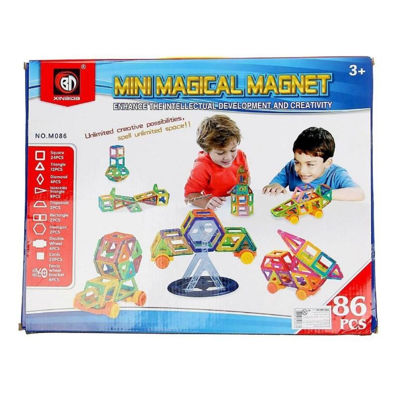 Магнитный конструктор Mini Magical Magnet M086 86 деталей