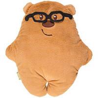 Подушка-Игрушка Мишка в очках Декоративная