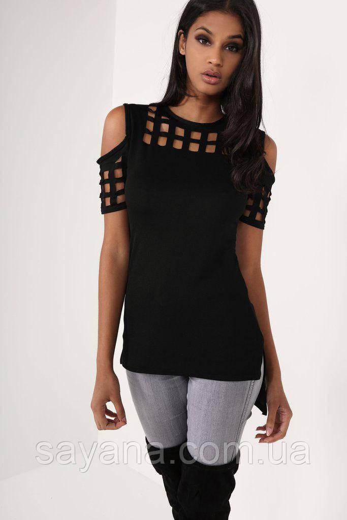 Женская футболка с разрезами в расцветках. СК-4-0519