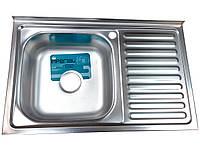 Кухонная мойка Imperial 5080L Satin нержавеющая сталь