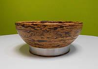 Люкс ваза для фруктов 25,5 см, Crushed Bamboo