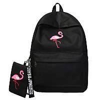 Рюкзак черный фламинго