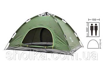 Палатка-автомат 2-х местная ЗЕЛЕНАЯ №5-2
