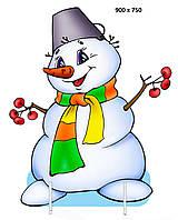 Декорація ☆ Сніговик в шарфі ☆ Новий Рік