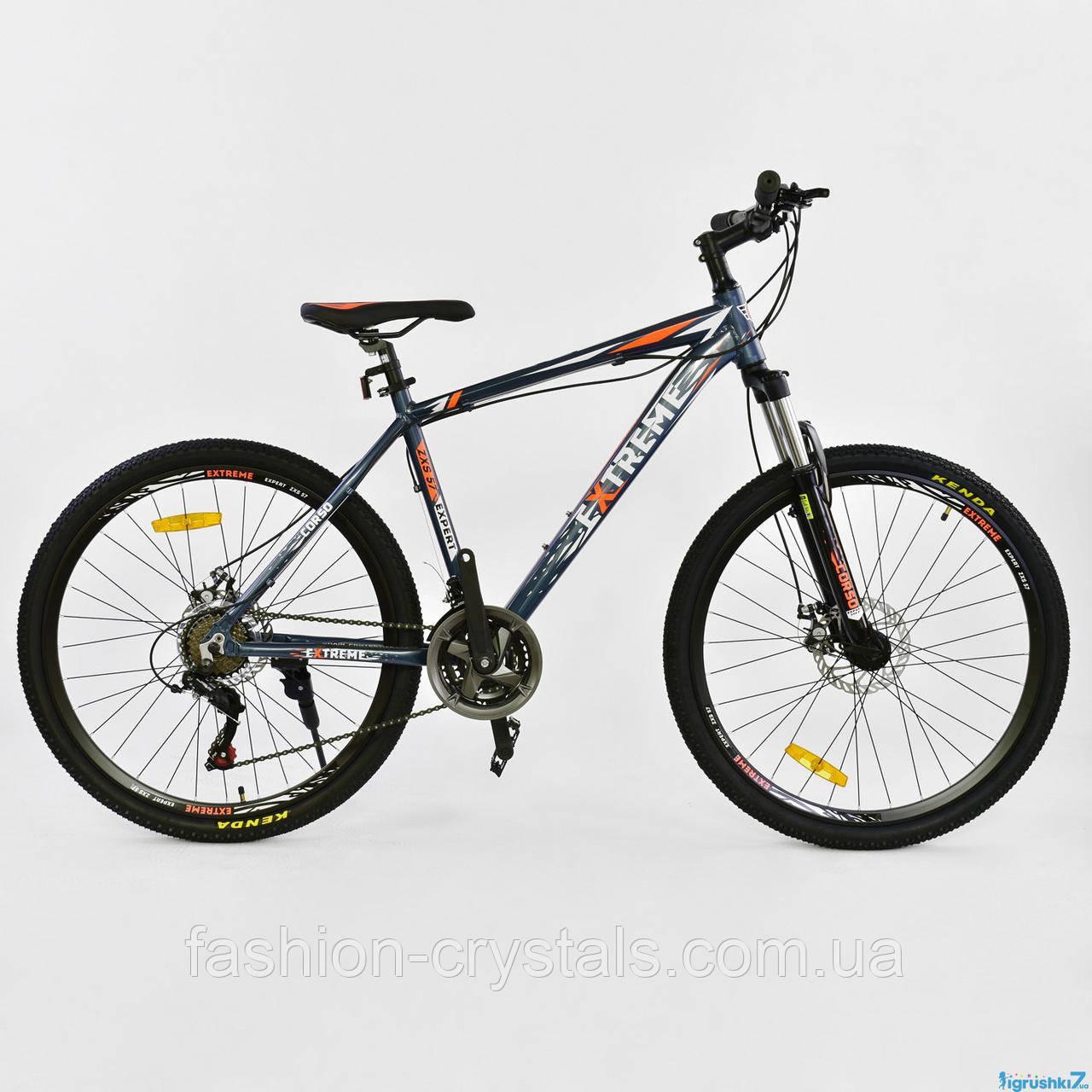 Спортивный велосипед Corso extreme 26  дюймов синий