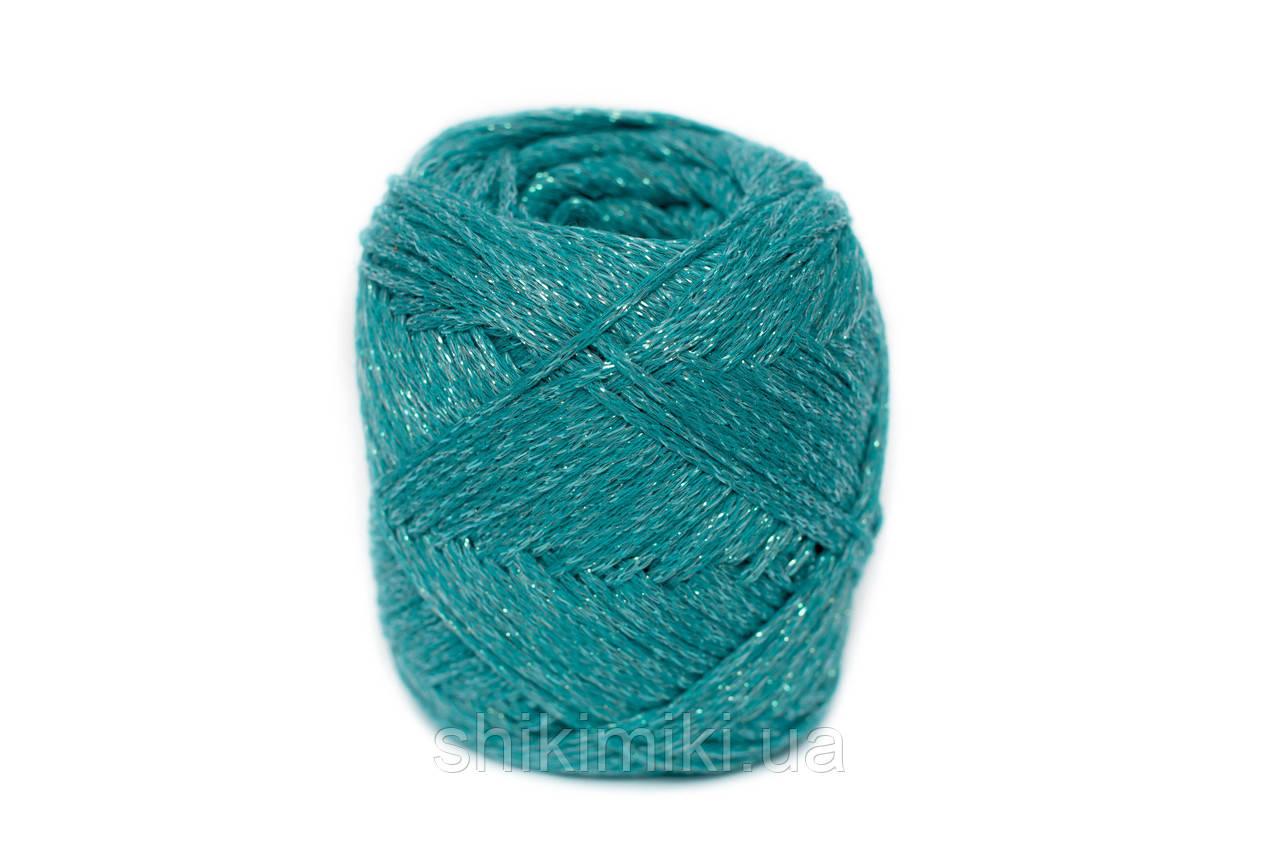 Трикотажный шнур с люрексом Knit & Shine, цвет Морская волна