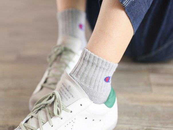 Серые высокие носки Champion