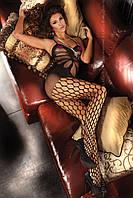 Эротический боди-комбинезон Черный, бежевый, белый Artemida livia corsetti, фото 1