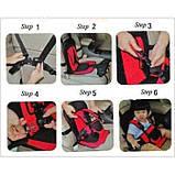 Универсальное детское бескаркасное автокресло Multi Function Car Cushion Бордовое, фото 7