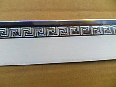 накладка декоративная на карниз (багет) меандр серебро