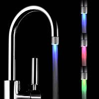 Насадка на кран подсветка воды улучшенная Glow Water 748 (3 цвета подсветки)