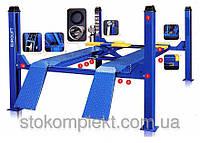 Подъёмник 4-х стоечный, купить автоподъемник Evrolift 3D для развал схождения