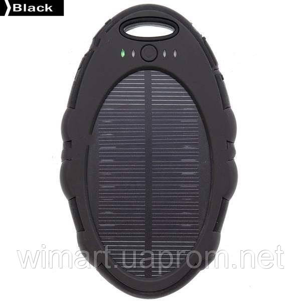 Зарядное устройство Magic Mirror Shaped Solar Power Bank 5000mAh. Черный