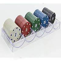 Фишки для покера в пластиковом боксе IG-6892