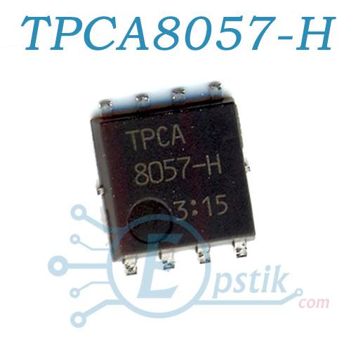 TPCA8057-H, MOSFET транзистор N канал, 30В, 42А, QFN8