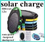 Зарядное устройство Magic Mirror Shaped Waterproof Solar Power Bank 5000mAh. Синий, фото 4