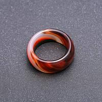 Кольцо из натурального камня Агат h-8-9мм р-р17-20мм