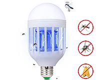 Антимоскитный светильник лампочка Е27,  2 в 1, фото 1