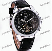 cb96ad8d Мужские наручные часы скелетоны Jaragar Turboulion с автоподзаводом  серебристые