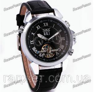 Мужские наручные часы скелетоны Jaragar Turboulion с автоподзаводом серебристые, фото 2