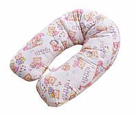 Подушка для беременных комбинированного цвета twins (пушистые мишки) Twins