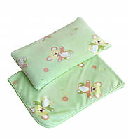 Плед и подушка в кроватку twins велюр мишка Twins