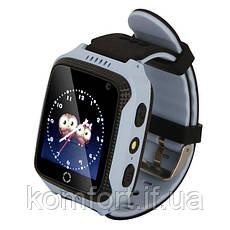 Детские умные смат часы M05 с GPS, фонариком и камерой Голубой, фото 2