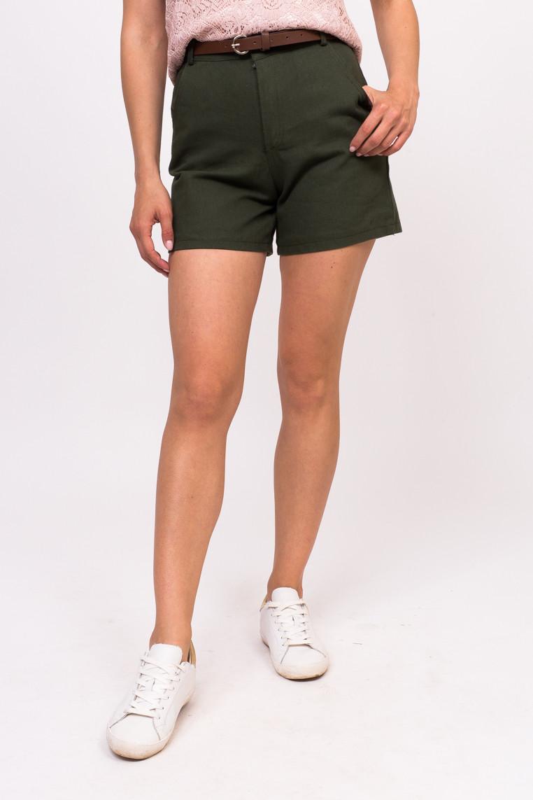 Джинсовые женские шорты LUREX - зеленый цвет, M (есть размеры)