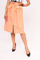 Стильная юбка с накладными карманами LUREX - персиковый цвет, L (есть размеры), фото 1
