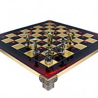 Manopoulos Шахматы ручной работы «Римляне-Red» дорожные